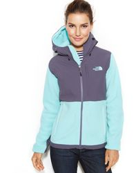 The North Face Hooded Denali Softshell Jacket - Lyst