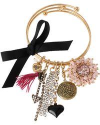 Betsey Johnson - Gold-Tone Multi-Charm Bangle Bracelet Set - Lyst