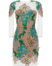 Blumarine Dahlia Embroidery Dress - Lyst