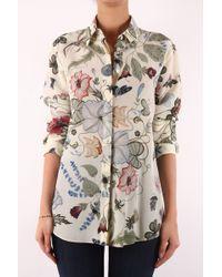 Gucci Camicia Flora Knight Bianco - Lyst