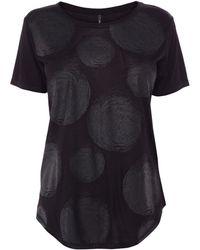 Karen Millen Dot Print Collection T-Shirt - Lyst