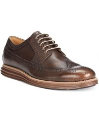 Cole Haan Lunargrand Long Wing Tip Oxfords - Lyst