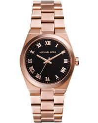 Michael Kors Women'S Channing Rose Gold-Tone Stainless Steel Bracelet Watch 38Mm Mk5937 - Lyst