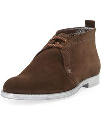 Jimmy Choo Dunraven Mens Suede Chukka Boot - Lyst