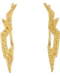 Finn - Women's Yellow-sapphire Bolt Stud Earrings - Lyst