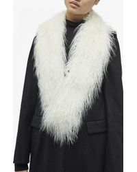 French Connection | Portia Faux Mongolian Fur Collar | Lyst