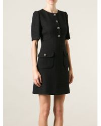 Dolce & Gabbana Jeweled Boucle Dress - Lyst