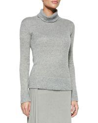 Ralph Lauren Collection Cashmeresilk Turtleneck Sweater and Jacinda Draped Long Skirt - Lyst