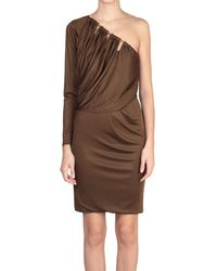 Emilio Pucci One-Shoulder Viscose Dress - Lyst
