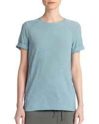 Vince Rolled-Sleeve Cotton Tee - Lyst