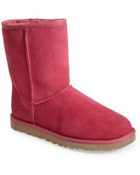 Ugg 'Classic Short' Boot pink - Lyst