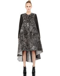 Antonio Berardi Silk Jacquard Nappa Leather Coat - Lyst