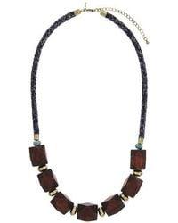 Topshop Wood Collar - Lyst