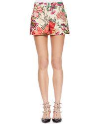 RED Valentino Flower-print Shorts - Lyst