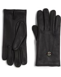 Gucci Leather Gloves - Lyst