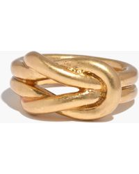 Madewell Double Knotshine Ring - Lyst