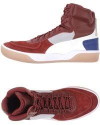 Alexander McQueen x Puma | Brace Leather and Neoprene High-Top Sneakers | Lyst