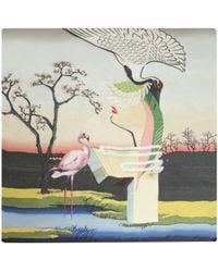 Mary Katrantzou Scarf 140 X 140 Flamingo - Lyst