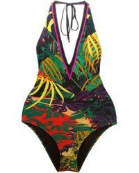 Ferragamo - Tropical Print One-piece Bathingsuit - Lyst