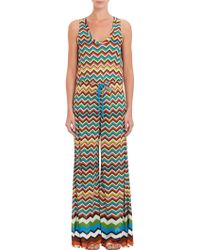 Missoni Zig Zag Sleeveless Wide Leg Jumpsuit - Lyst