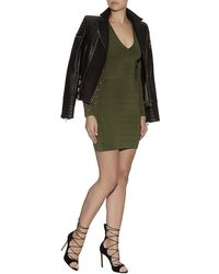 Balmain Bandage Long Sleeve Mini Dress - Lyst