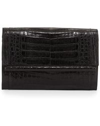 Nancy Gonzalez Large Crocodile Bar Clutch Bag - Lyst