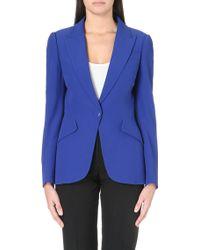 Alexander McQueen Tuxedo Crepe Jacket - For Women - Lyst