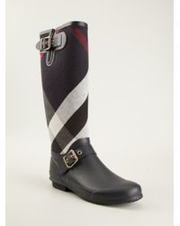 Burberry Nova Check Rain Boots - Lyst
