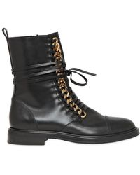 Casadei 30mm Chained Leather Combat - Lyst