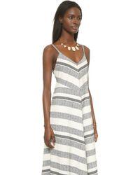 Twelfth Street Cynthia Vincent - Mitered Maxi Dress - Tan - Lyst