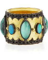 Armenta - Green Turquoise & Opal Band Ring - Lyst