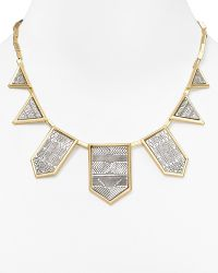 "House Of Harlow 1960 1960 Engraved Five Station Necklace, 16"" - Lyst"