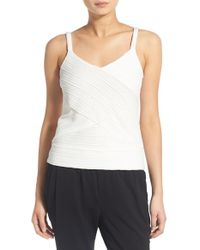 Chelsea28 Nordstrom - 'pleat Effects' Wrap Front Tank - Lyst