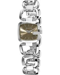 Gucci Women'S G Brown Dial - Lyst