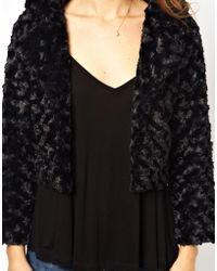 Brave Soul Faux Fur Jacket - Lyst