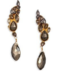 Alexis Bittar Elements Pheonix Pyrite Crystal Angled Navette Drop Earrings - Lyst