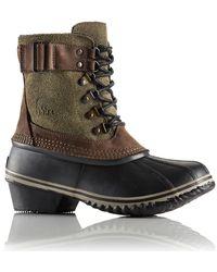 Sorel Winter Fancy Lace Ii Leather Ankle Boots - Lyst