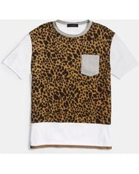 COACH | Wildcat Printed Tee Shirt With Band | Lyst