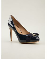 Ferragamo Bow Detail Pumps - Lyst