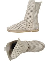 Espadrilles boots ankle boots - Lyst