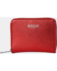 MZ Wallace Lara Wallet Papaya Leather - Lyst