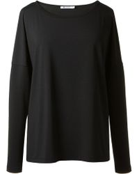 T By Alexander Wang Black Long Sleeves Tshirt - Lyst