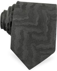 Roberto Cavalli - Black Animal Print Woven Silk Narrow Tie - Lyst