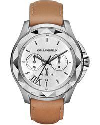 Karl Lagerfeld Karl 7 Mixed Media Watch brown - Lyst