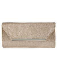 Glint Metallic Envelope Clutch - Lyst