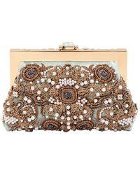 Dolce & Gabbana Vanda Embellished Velvet Clutch - Lyst