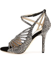 Jimmy Choo Florry Asymmetric Strappy Sandal - Lyst