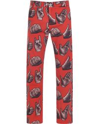 House of Holland | Red Pint Trousers | Lyst