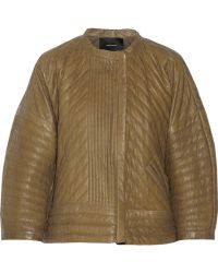 Isabel Marant Abelia Quilted Textured Leather Jacket - Lyst