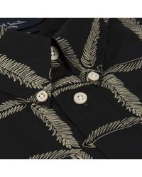 Paul Smith Black Leaf Check Print Short-Sleeve Shirt black - Lyst